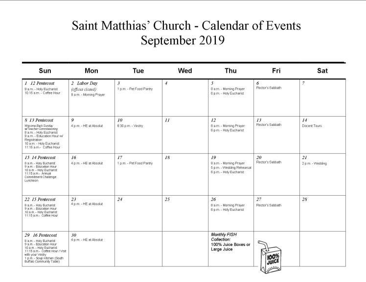 Sept calendar-2019