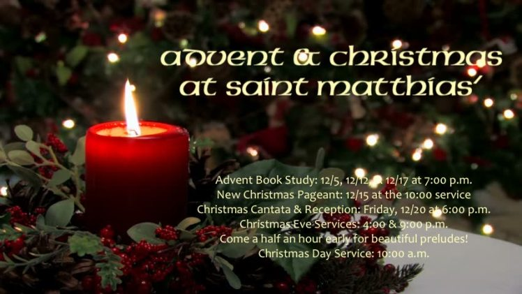 Advent & Christmas Schedule 2019B